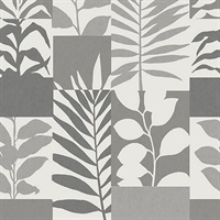 Goneril Grey Botanical Geometric Wallpaper