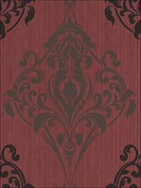 Gothic Medallion Black and Gray on Red Metallic Design