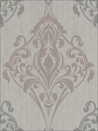 Gothic Medallion Taupe and Gray on Metallic Ink