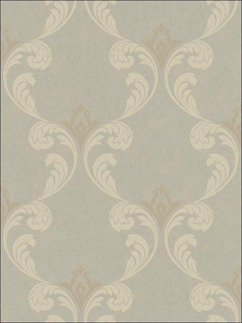 Gothic Ogee Beige with Gold and Silver