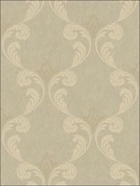 Gothic Ogee Cream and Gold Metallic Ink