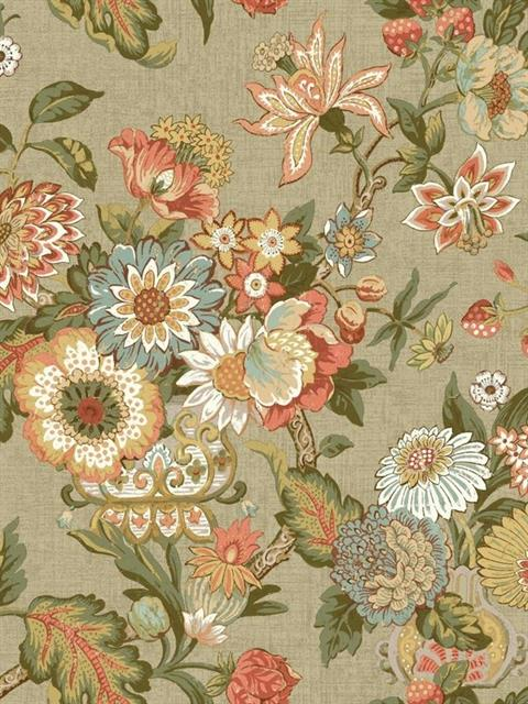 GC8704, Waverly Global Chic Wallpaper Book by York ...