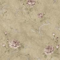 Gracie Floral Scroll, Brown
