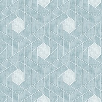 Granada Aqua Geometric Wallpaper