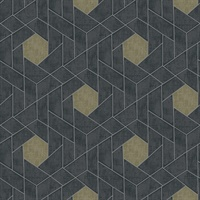 Granada Charcoal Geometric Wallpaper