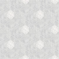 Granada Light Grey Geometric Wallpaper