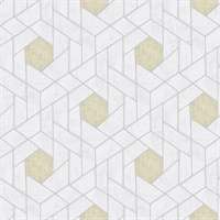 Granada Silver Geometric Wallpaper
