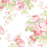 Grand Floral Wallpaper in Pinks & Greens