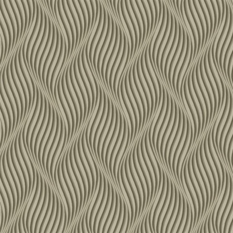 Ashford House Groovy Wallpaper - Taupe