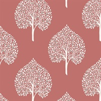 Grove Coral Peel & Stick Wallpaper