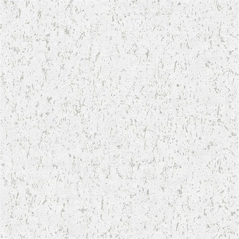 Guri White Faux Concrete Wallpaper