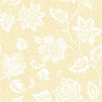 Guy Light Yellow Jacobean Wallpaper