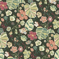 Gwyneth Dark Green Floral Wallpaper