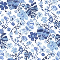 Gwyneth Indigo Floral Wallpaper