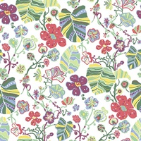 Gwyneth Multicolor Floral Wallpaper