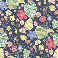 Gwyneth Navy Floral Wallpaper