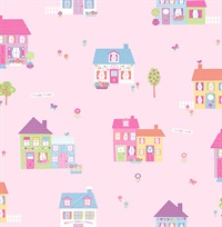 Happy Street Pink Houses