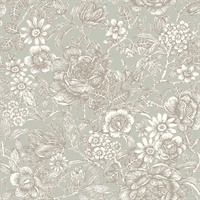 Hedgerow Moss Floral Trails Wallpaper