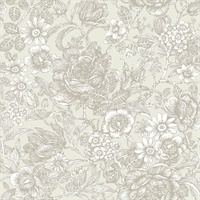 Hedgerow Wheat Floral Trails Wallpaper