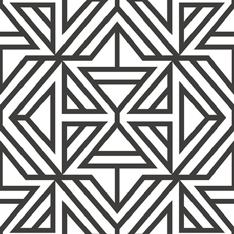 TS28131 5 inch Stripe Wallpaper Black White