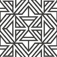 Helios Black Geometric Wallpaper