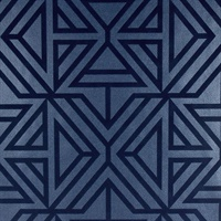 Helios Blue Geometric Wallpaper