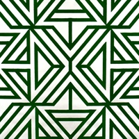 Helios Green Geometric Wallpaper