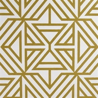 Helios Mustard Geometric Wallpaper