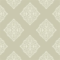Baige Henna Tile Wallpaper