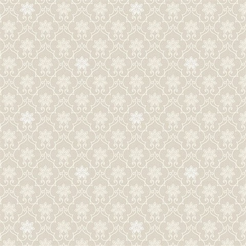 white trellis wallpaper