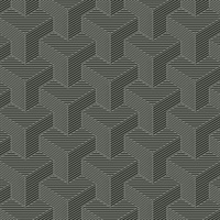 Ashford House Hexahedron Wallpaper - Gunmetal