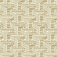Ashford House Hexahedron Wallpaper - Gold