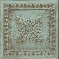 Hillman Turquoise Ornamental Tin Tile Wallpaper