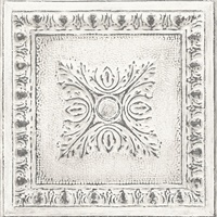Hillman White Ornamental Tin Tile Wallpaper