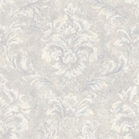 Hofburg Light Grey Damask