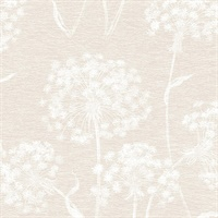 Horatio Cream Dandelion Wallpaper