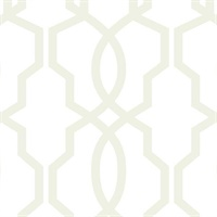 Ashford House Hourglass Trellis Wallpaper - Pearl