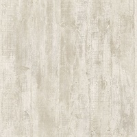 Huck Cream Weathered Wood Plank Wallpaper