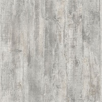 Huck Grey Weathered Wood Plank Wallpaper