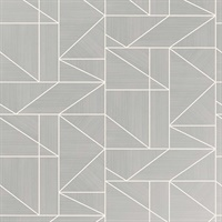 Ina Silver Geometric Wallpaper