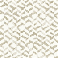 Instep Champagne Abstract Geometric Wallpaper
