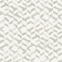 Instep Pewter Abstract Geometric Wallpaper