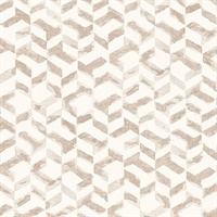 Instep Rose Gold Abstract Geometric Wallpaper