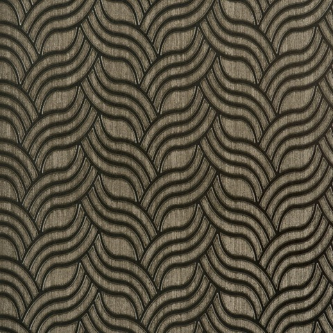 Taupe Contemporary Wallpaper