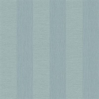 Intrepid Aqua Faux Grasscloth Stripe Wallpaper