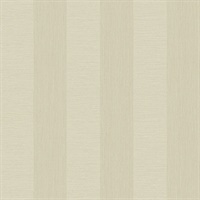 Intrepid Champagne Faux Grasscloth Stripe Wallpaper