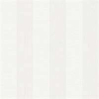 Intrepid White Faux Grasscloth Stripe Wallpaper