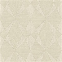 Intrinsic Cream Geometric Wood Wallpaper