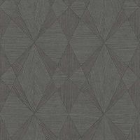 Intrinsic Dark Grey Geometric Wood Wallpaper