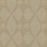 Intrinsic Light Brown Geometric Wood Wallpaper